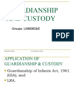 Ancillary Claim-Guardianship and Custody