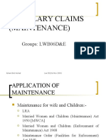 Ancillary Claim Maintenance