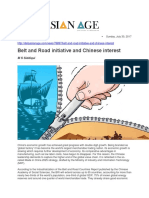 Belt and Road Initiative and Chinese Interest