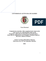 Competencias Esenciales, Clima e Innovación (Baños, 2011)