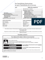 WASHER RTW4440VQ Installation Instruction En