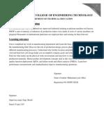 PAKISTAN MACHINE TOOL FACTORY REPORT