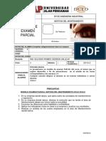 Modelo de Examen Parcial Gestion Del Mantenimiento Ciclo 2016-2