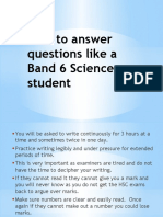 How to Answer Questions Like a Band 6 Science Student