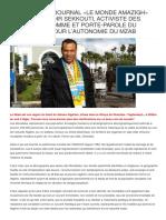 INTERVIEW DU JOURNAL «LE MONDE AMAZIGH» AVEC MR. KHODIR SEKKOUTI