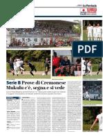 La Provincia Di Cremona 30-07-2017 - Serie B