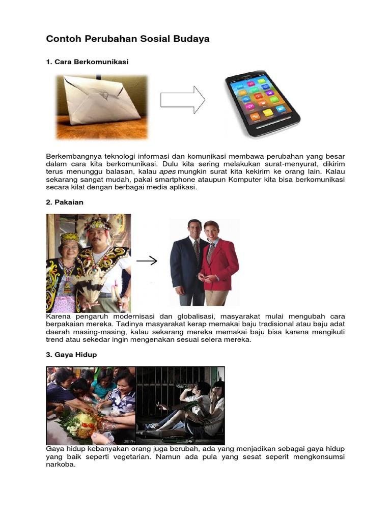 Contoh Perubahan Sosial Budaya Docx
