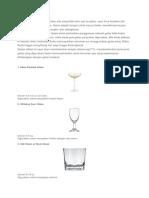 Jenis Gelas Glassware