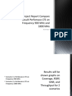 Project Report Compare Result Perfomace LTE on Frequency