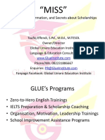 MISS, Motivation Information & Secrets About Scholarships by GLUE Institute
