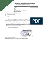 Surat Ke Kantah Untuk Mengumumkan Hasil Seleksi Ptt