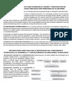 Conocimiento Didáctico Para Favorecer El Diseño y Construcción de Soluciones Tecnológicas Para Resolver Problemas de Su Entorno