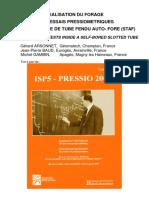 Réalisation Du Forage Pour Essai Pressiométrique. ISP (2005)