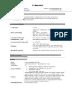 Fresher ECE Embedded Resume Model 143