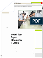 CBSE XII Model Test Paper Chemistry