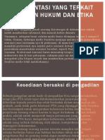 Dokumentasi Yang Terkait Dengan Hukum Dan Etika