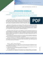 Orden ECD 78 2014 Que Dicta Instrucciones Para La Implantacion Del Decreto 27 2014