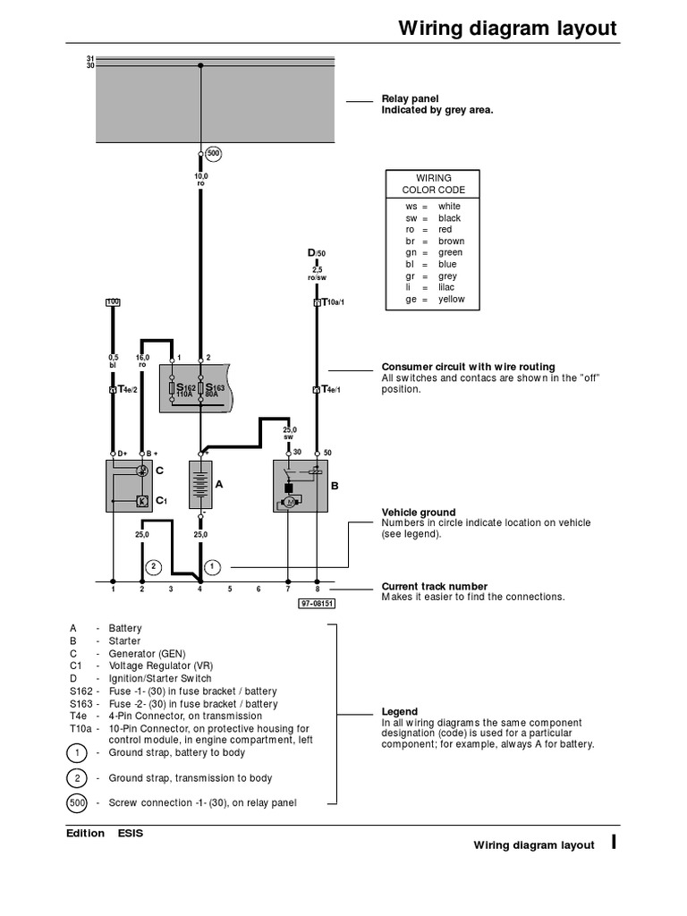 Vw.wiring.diagram | Electrical Connector | Switch