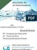 Analisa Kadar Air Ilzamha