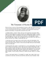 Testament of Nicolas Flamel