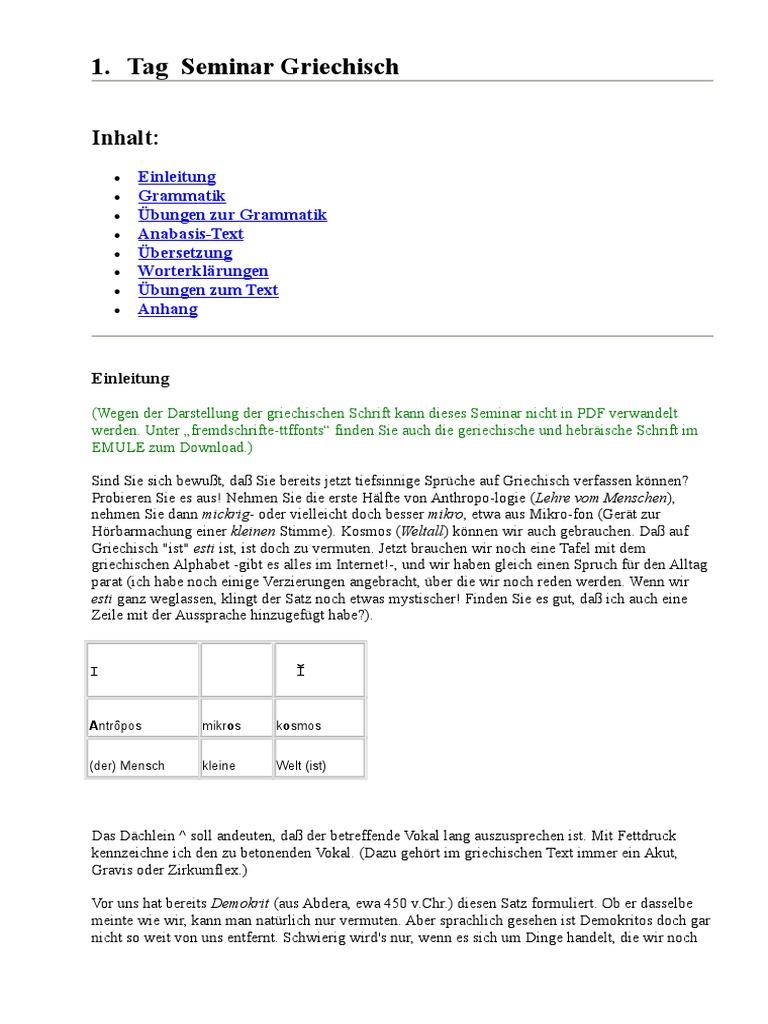GRIECHISCH-Alt - Seminar-Lehrgang-Kursus-Unterricht in 40 Tagen ...