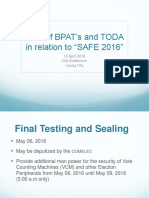 Bpat's and Toda Safe 2016