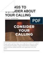5 Things to Consider About Your Calling