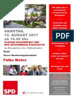 Handzettel-Sommerfest