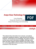 Avaya Cisco Comparison