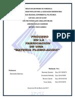 Proceso en La Fabricacion de Una Bateria de Plomo Acido