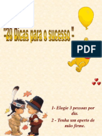 20 Dicas para o Sucesso