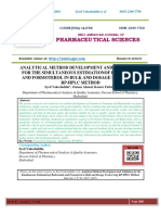 ANALYTICAL METHOD DEVELOPMENT AND VALIDATION FOR THE SIMULTANEOUS ESTIMATIONOF BUDESONIDE AND FORMOTEROL IN BULK AND DOSAGE FORM USING RP-HPLC METHOD