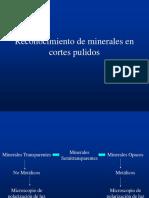 Reconocimiento de Minerales en Cortes Pulidos