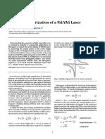 Mode characterization of a Nd:YAG laser