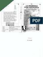 Drucker, P-La Sociedad Poscapitalista