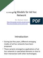 Emerging Models for Ad Hoc Network