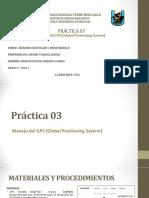 PRÁCTICA N° 03. USO DE GPS 1