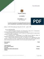 HG Cu Privire La Aprobarea Concepţiei Sistemului de Monitorizare În Timp Real a Evenimentelor, Autoturismelor Şi Persoanelor La Posturile Vamale
