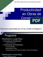 04 - Productividad en Obra CIPRO -2010