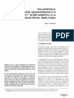 Huaypethue. Infraccion Administrativa o Delito Penal, Acercamiento a La Realidad Penal Tributaria