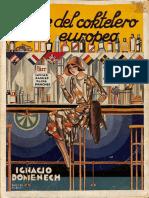 El Arte Del Coctelero Europeo - Ignacio Domenech (1931)