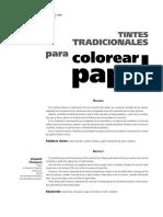 Tintes Tradicion-colorear Papel
