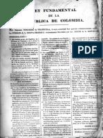 1819 Ley fundamental de la república de Colombia BN, F. Pineda 852, pza. 14