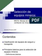 Clase 09 Seleccion de Equipos Mineros