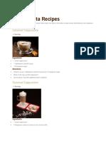 Cafe Barista Recipes