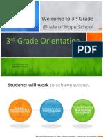 orientation 3rd grade