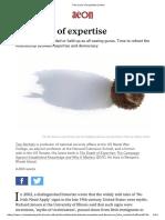 The Crisis of Expertise _ Aeon