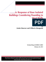Masroor_Seismic Response of Base Isolated Buildings Considering Pounding to Moat Walls