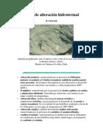 Tipos de Alteración Hidrotermal