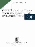 Altamira, Rafael - Elementos de la civilización española